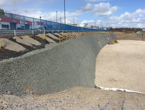 Fisher Street - Completed Soil Nail Wall