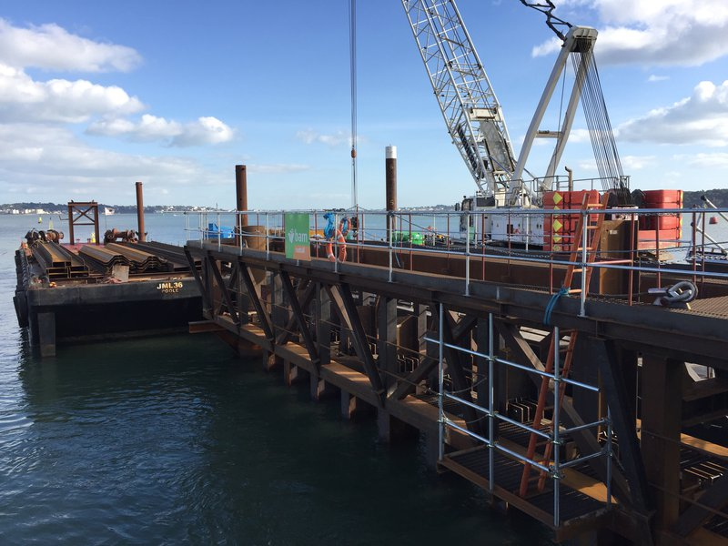 Poole Harbour South Quay - Marine piling frame