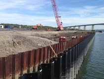 Ipswich, River Wall Replacement - New Front Wall