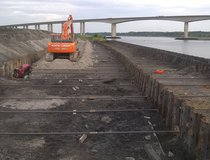 Ipswich, River Wall Replacement - Sheet Pile Walls & Ties